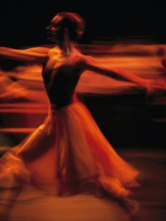 Portrait of a Ballet Dancer Bathed in Red Light, Nairobi, Kenya