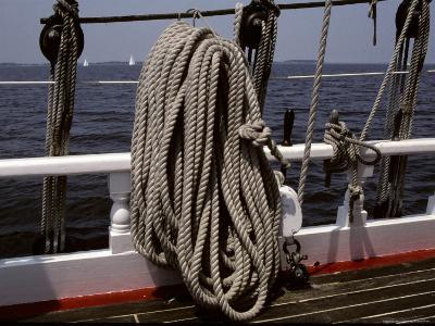 Ropes and Rigging on a Windjammer Sailing Ship