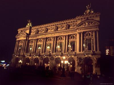 Exterior View of the Opera Garnier in Paris, Paris, France