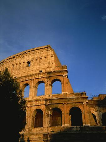 The Colosseum Lit by the Late Day Sun