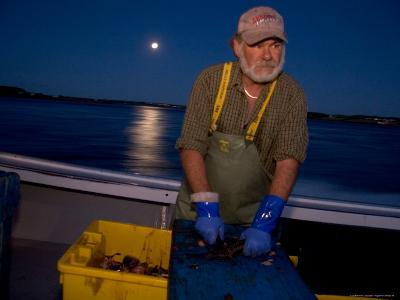 A Lobster Fisherman Goes Out for the Mornings Catch