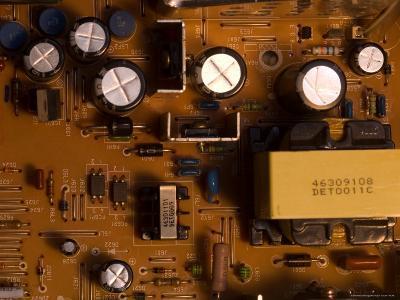 A Circuit Board Inside a CRT Monitor