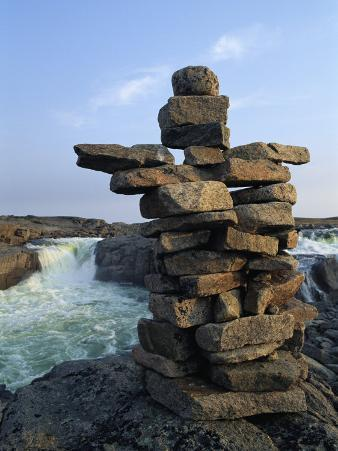 A Carefully Balanced Cairn Overlooking the Kerchoffer River