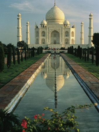 The Taj Mahal with a Reflection of the Tomb on the Surface of a Pool