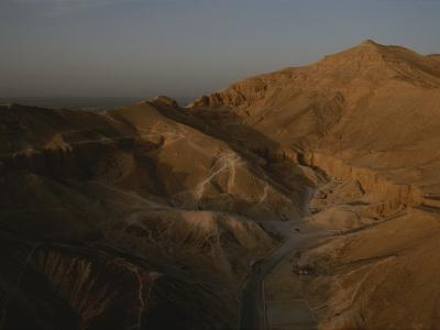Aerial View of the Valley of the Kings, Egypt
