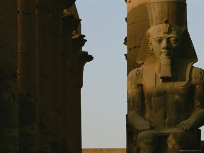 Statue of Ramses Ii in the Luxor Temple Complex
