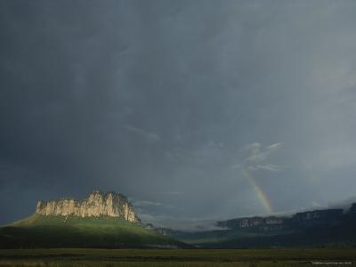 La Gran Sabana Landscape with Rainbow