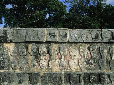 Wall of Skulls (Known as Tzompantli), Chichen Itza, Mexico