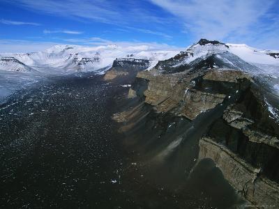 A Rock Glacier Juts out of Beacon Valley in Antarctica