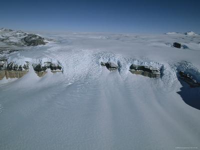 Aerial View of Don Juan Pond in Antarctica