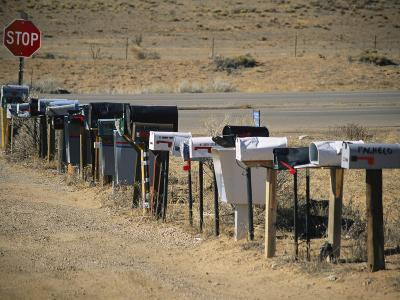 A Parade of Mailboxes on the Outskirts of Santa Fe