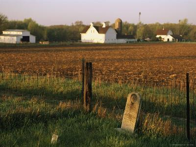 A Cemetery at Historic Stevens Creek Farm Near Lincoln, Nebraska