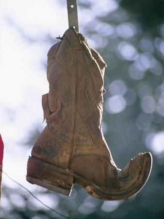 An Old Boot Decorates the Gate of an Alleyway in Chimayo