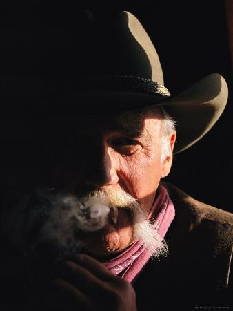 A Moody Portrait of a Smoking Cowboy at This Western Movie Location