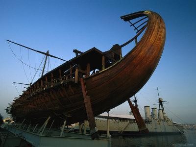 Olympias, Replica of Ancient Greek Warship in Dry Dock Near Athens