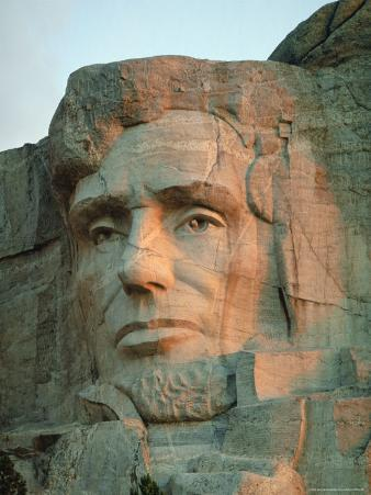 Abraham Lincoln's Face on Mount Rushmore National Monument