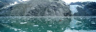 A Wide-Angle View of Glacier Bay in Alaska