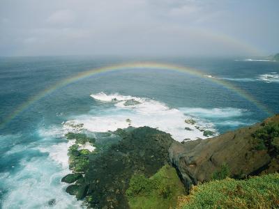 A Double Rainbow Brightens a Rainy Day off the Coast of Maui