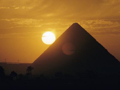 Sun over the Pyramids at Giza