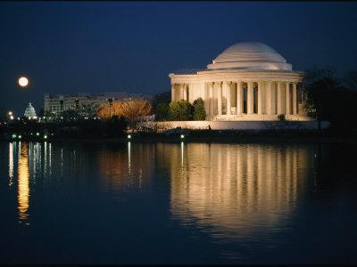 View of the Jefferson Memorial at Night