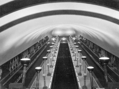 Escalators in a Tube Station