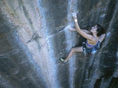 A Woman Climbing in Moab, Utah