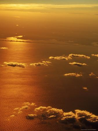 Aerial View, off the Coast of NY