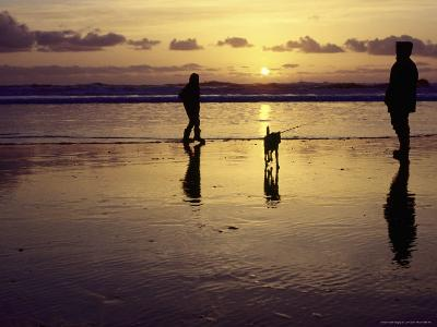 Family with Dog at Sunset, Cape Sebastian, OR