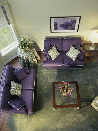 marvelous purple green living room   Purple and Green Living Room Photographic Print at ...