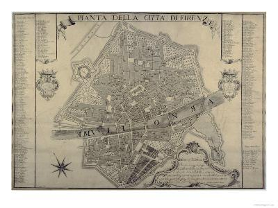 Map of Florence, 1730