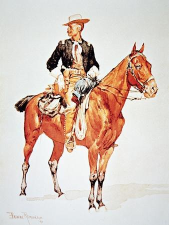 Lieutenant S.C. Robertson, Chief of the Crow Scouts, from a Watercolour of 1890