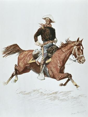 Us Cavalry Officer in Campaign Dress of the 1870S