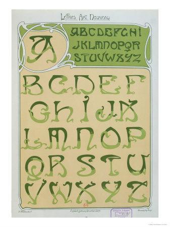 Art Nouveau Alphabet. 1903