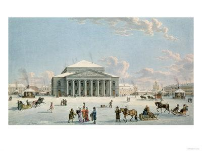 Bolshoi Theatre, St. Petersburg, Lory, c.1800, After a Painting by Johann Georg de Mayr, c.1790