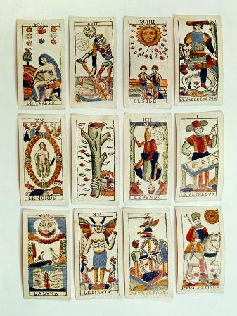 Selection of Tarot Cards, French, 19th Century