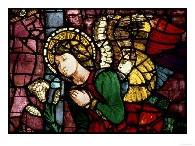 The Annunciation, Angel Gabriel by Fra Paolo Di Mariotto Da Gambassi, Domenico Ghirlandaio