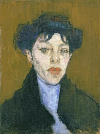 Woman with a Blue Scarf, c.1912