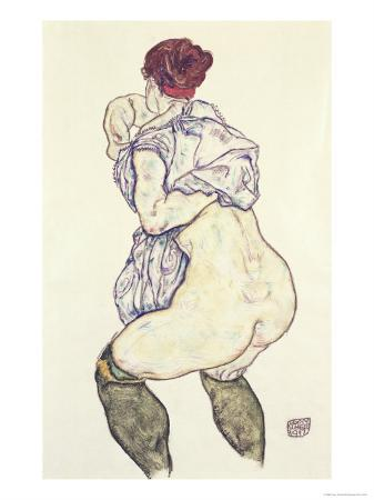 Woman Undressing, 1917