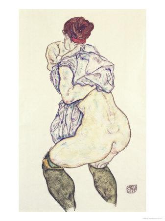 Woman Undressing, 1917