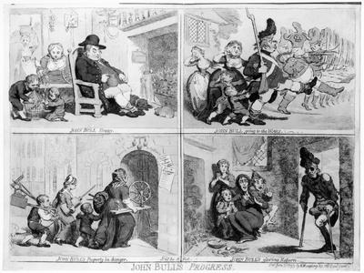 John Bull's Progress, c.1793