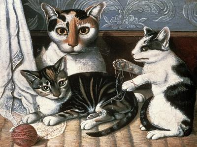 Cat and Kittens, c.1872-1883