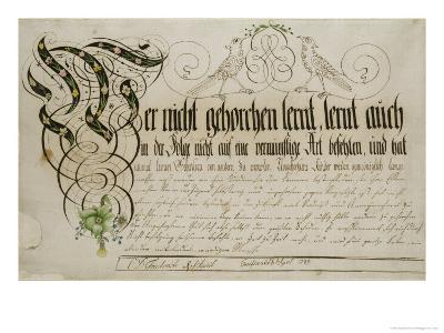 Album Sheet, 1789