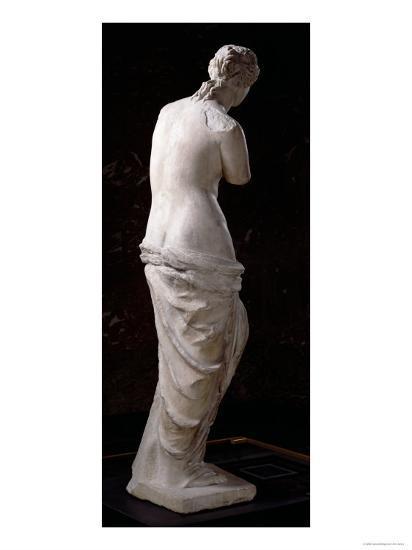 Rear View of Aphrodite, the 'Venus de Milo', Hellenistic ...