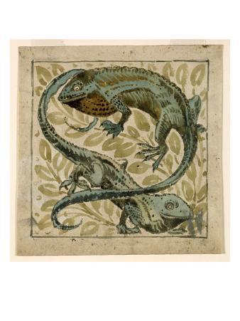 Lizards, Design For a Tile