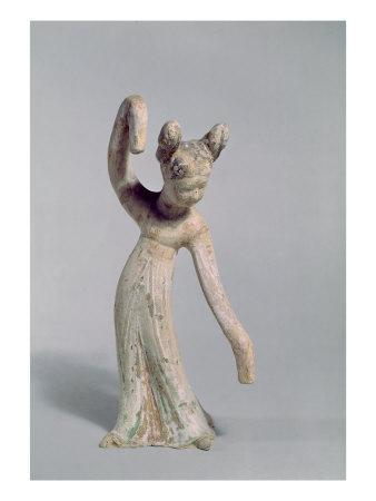 Funerary Statue of a Dancer, Tang Dynasty