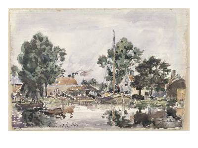 Canal in the Hague, 1868