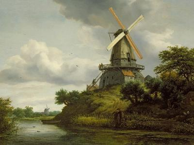 Windmill by a River
