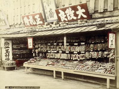 Shoe Shop in Kyoto, c.1890