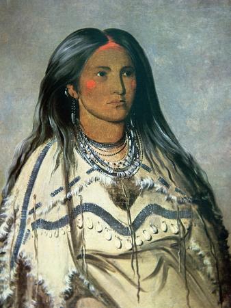 Mint, a Mandan Indian Girl, 1832