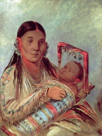 Sioux Mother and Baby, c.1830